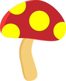 Mushroom 03 red and yellow