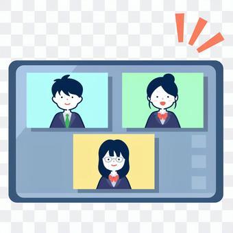 オンラインでおしゃべりする学生達