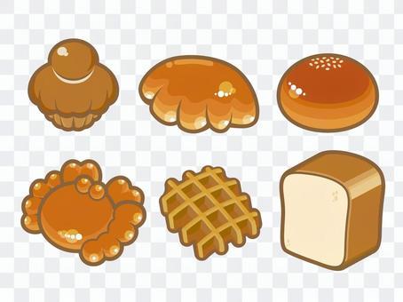ポップなテイストのパンのイラスト