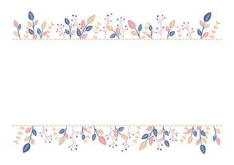 Natural color botanical frame