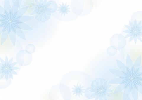 淡藍色的花背景