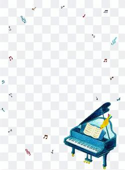 唱歌鋼琴框架
