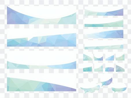 Blue polygon geometry banner frame material