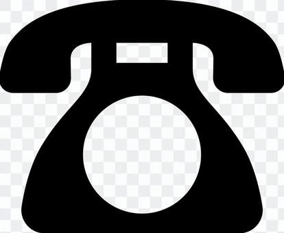 電話標記_黑色