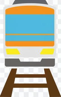 帶火車軌道的前橙