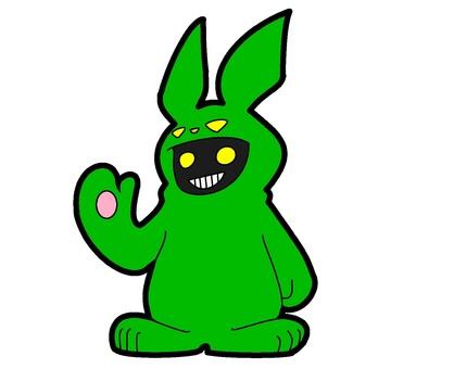 綠兔服裝鬼
