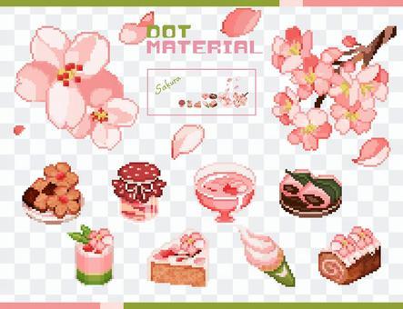 點材料-櫻花和糖果