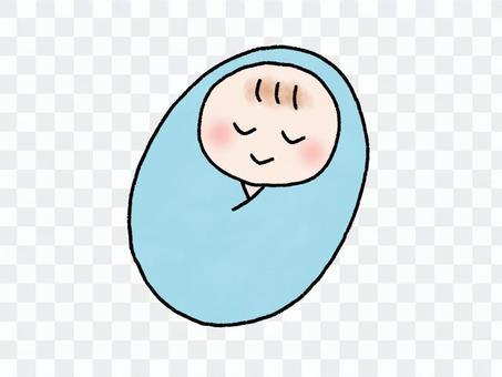 寬鬆的嬰兒插圖sw