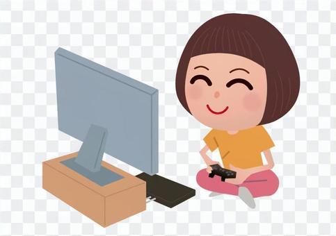 電子遊戲的女孩