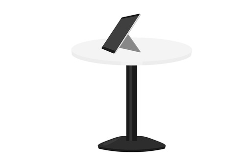 Round table and tablet