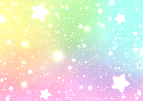 Fantasy rainbow background with cute stars