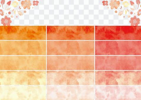 Watercolor pattern swatch 6 orange