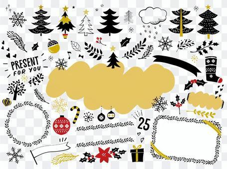 聖誕節手寫插圖