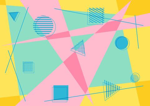 具有幾何圖案的多彩流行壁紙背景