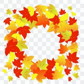 秋天的樹葉裝飾