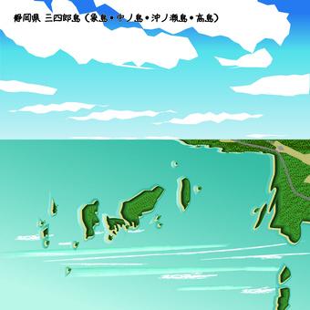 Sanshiro Island靜岡縣島海上