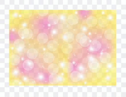黄色ピンクキラキラシャボン背景