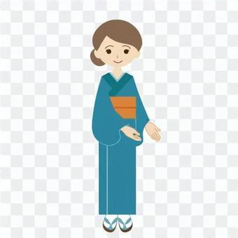 (職業女性)指導日本服裝的婦女