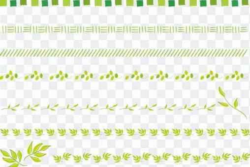簡單的綠線