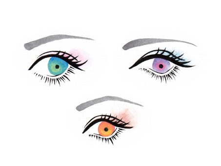 Hand-painted eye illustration 1 (3 types)