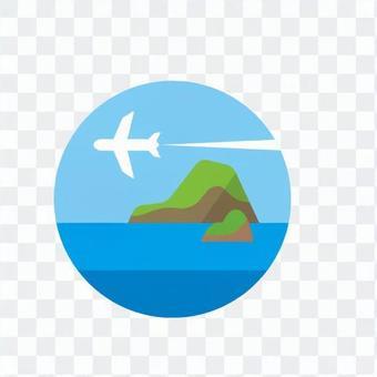Airplane and sea