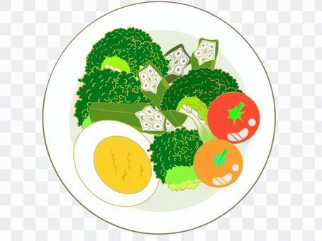 オクラとブロッコリーのサラダ