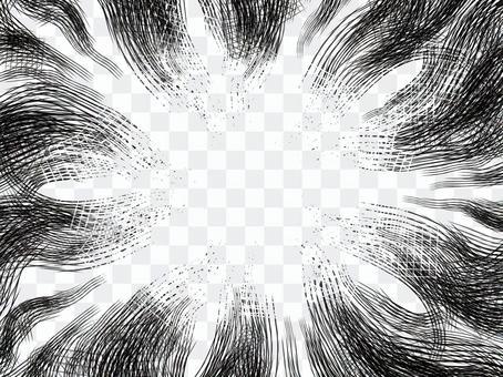 單色卡通表情Nawaami框架