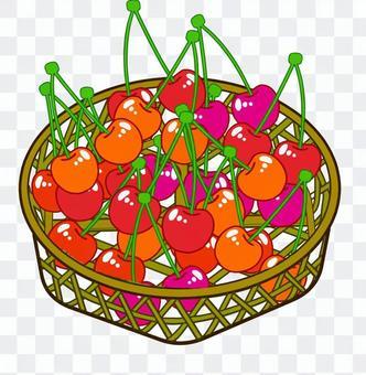 櫻桃在籃子裡
