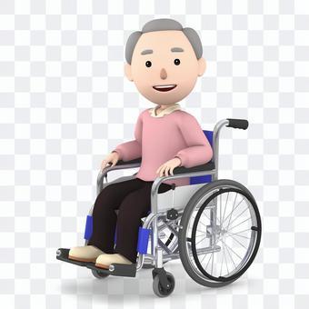 Wheelchair old man 05