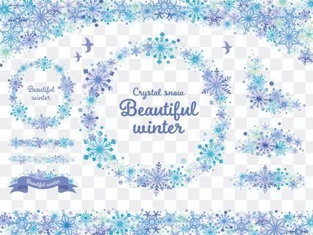 雪の結晶のフレームセット