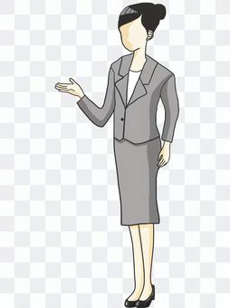 女員工指導
