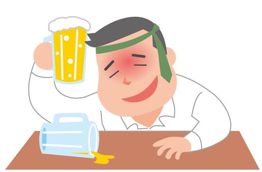 Old drunk man