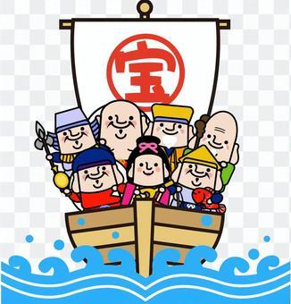七個幸運神的寶藏船