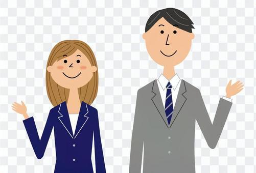 商務人士男人和女人_上身