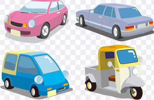 昭和の自動車4種