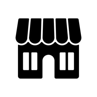 Store silhouette icon