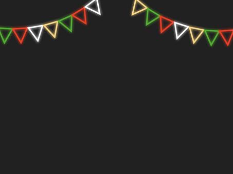 霓虹風格_聖誕花環框A