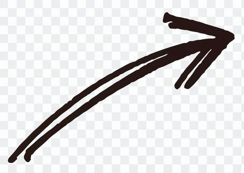 Rough hand-painted arrow_monochrome