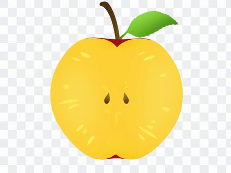 蘋果切成兩半