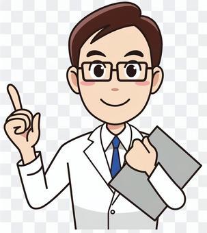 有病歷的男性醫生