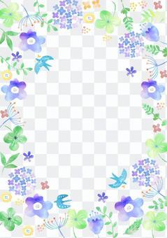 斯堪的納維亞風格_水彩花卉框2657