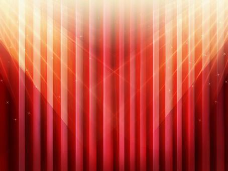 Illuminated stage red curtain wallpaper frame