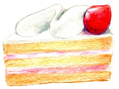 Short strawberry cake