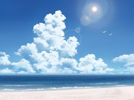 海洋和雲層2