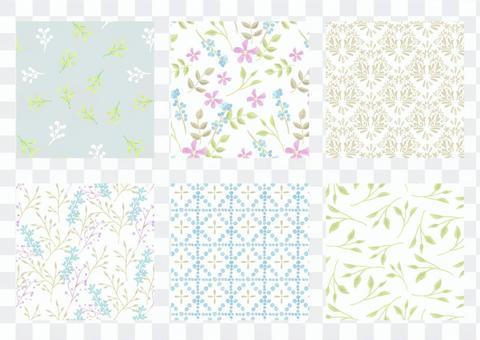パターンセット036 シックな水彩