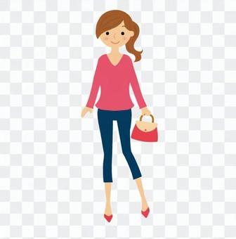 Shopping woman 01