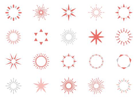 光閃閃的裝飾圖標 07C