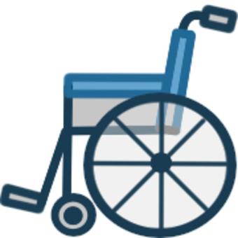 シンプルな車椅子