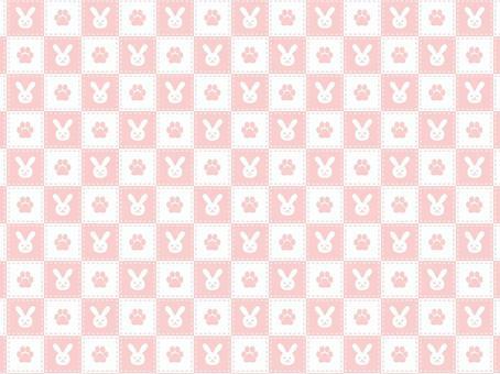 兔爪檢查蘇格蘭短裙背景