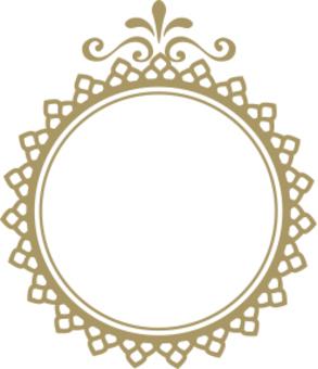 Decoration frame gold circle